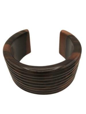 GAROUA collier torque ébène véritable