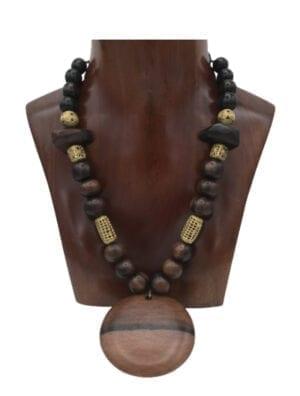 BANTOU collier ébène et bronze