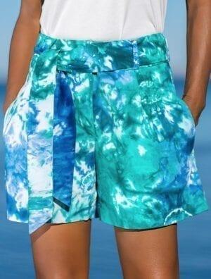 Short Yadi bleu/vert