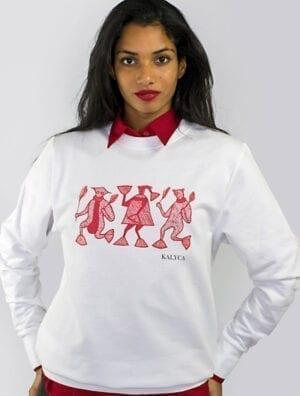 Sweatshirt Mileg blanc