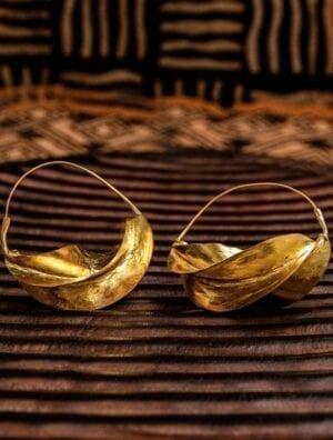Boucles d'oreilles fullani en forme de carambole