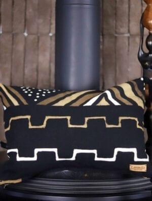 Housse de coussin décoratif en Bogolan