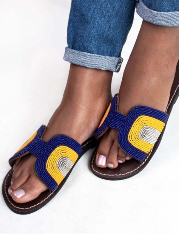 Sandales à papillon Emma (bleu nuit)