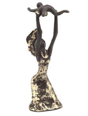 Statue femme bronze
