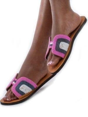 Sandales à papillon Emma (rose)