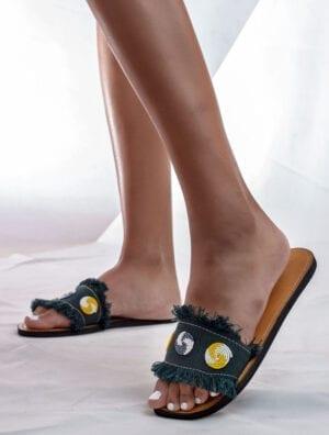 Sandales en jean Sunny