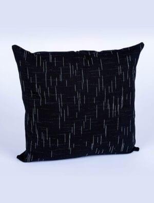 Housse de coussin Teranga [Noir rayures blanches]