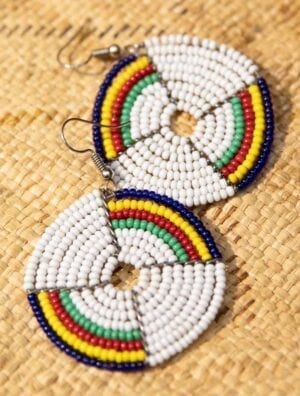 Boucle d'oreille africain