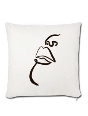 Housse de coussin 45 x 45 cm - KISS